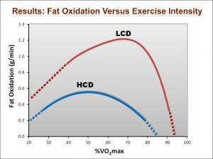 Ossidazione dei grassi a seconda dell'intensità dell'esercizio