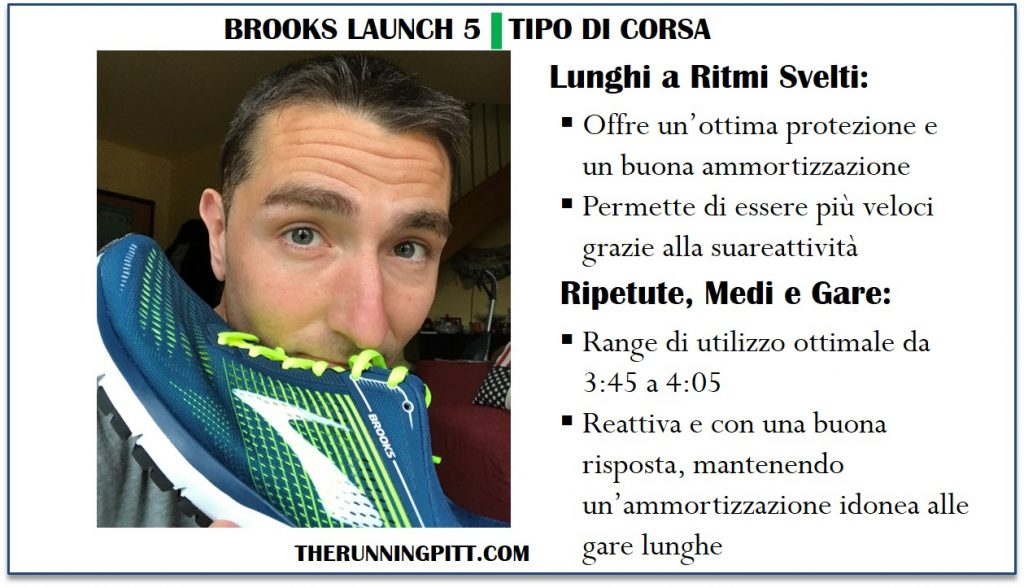 La corsa con le Brooks Launch 5
