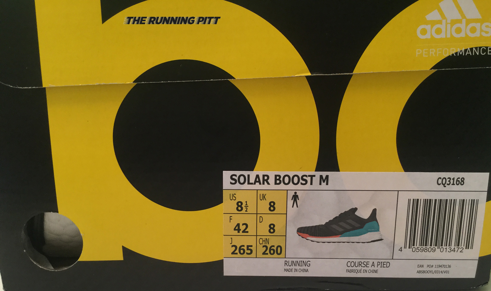 online store 37df5 15123 Scatola Adidas Solar Boost