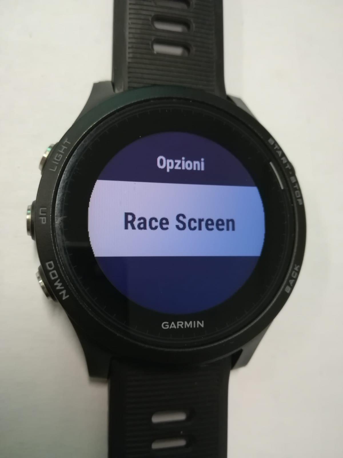 Race Screen