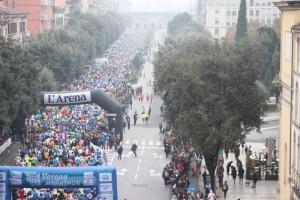 Partenza Verona Marathon 2015