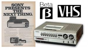 Betamax e VHS
