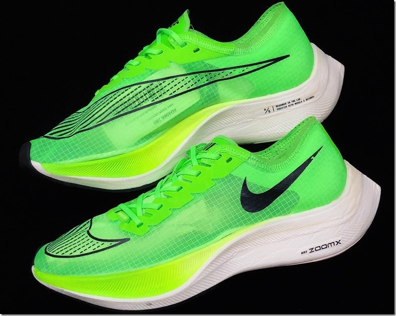 nike-vaporfly-5%-coppia-laterale-verde